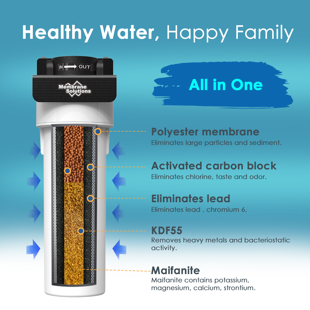 Multi-stage Whole House Under Sink Counter Sediment Drinking Water Filter System