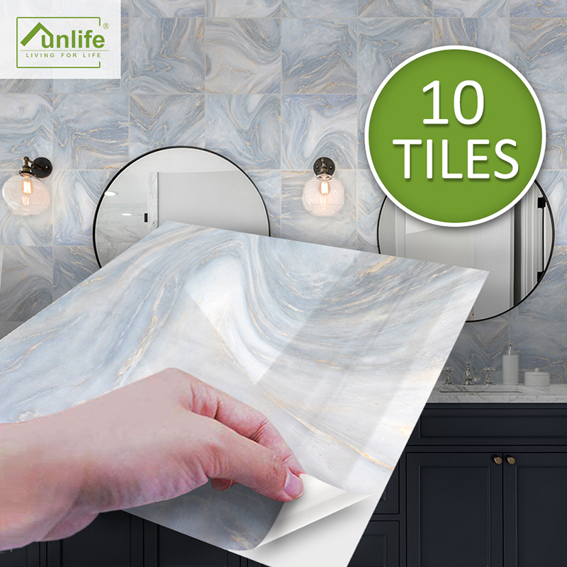 10//50//90X Kitchen Tile Stickers Bathroom Mosaic Self-adhesive Wall Decal Sticker