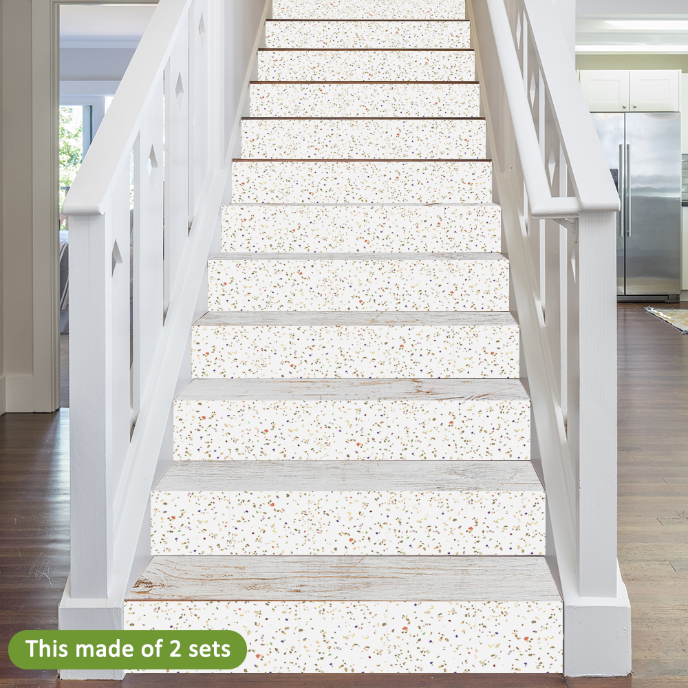 7//14//21Pcs Stair Riser Staircase Stickers Mural Wall Decals Self-Adhesive Decor