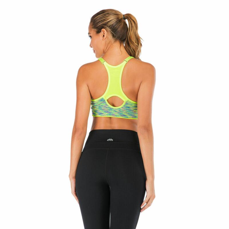 Women/'s Vest Shock Absorber Sports Bra Ultimate High Impact Running Fitness @EG