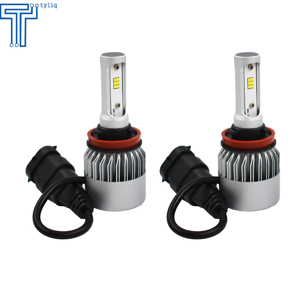 2x H11 H8 H9 6000k White 72w Led Headlights Kit Fog Light