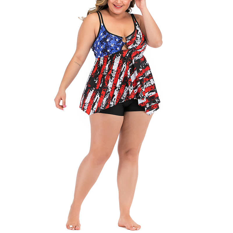 Ladies Women Two Piece Swimwear Swimsuit Beachwear Tummy Control Tops+Swim Short
