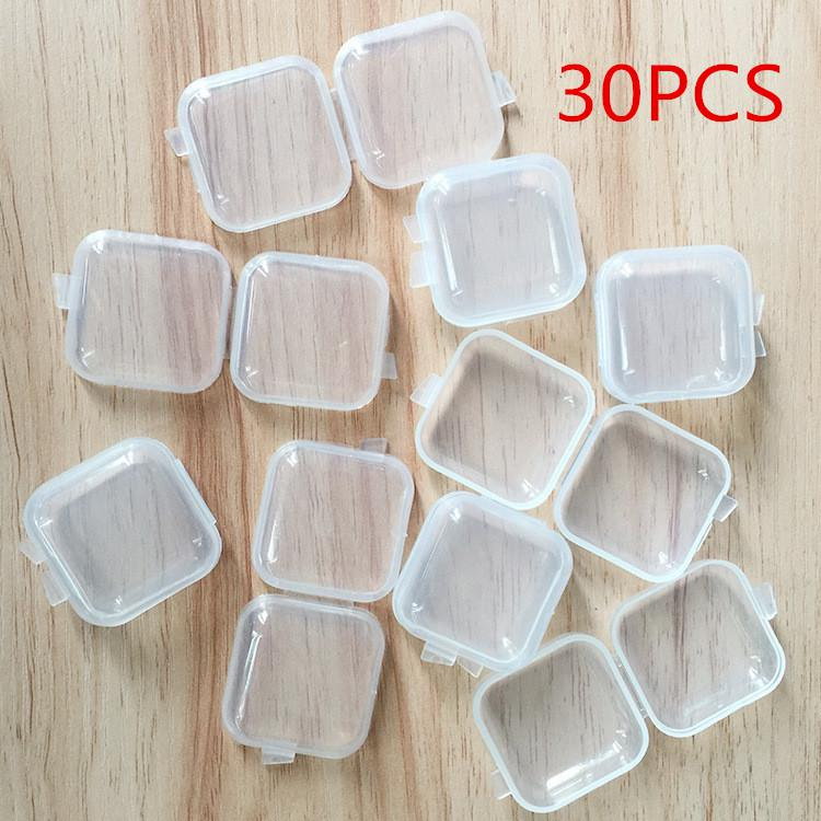 Mini Transparent Plastic Storage Box Jewelry Beads Screw Coins Container Cases