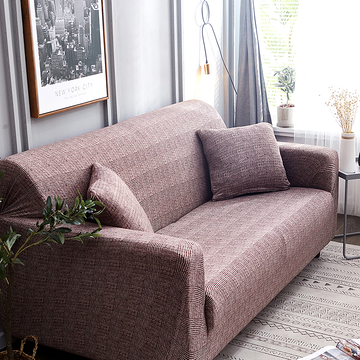 Sofa Covers Multicolored Elastic Stretch Slipcover Protector Settee 1-4 Seaters