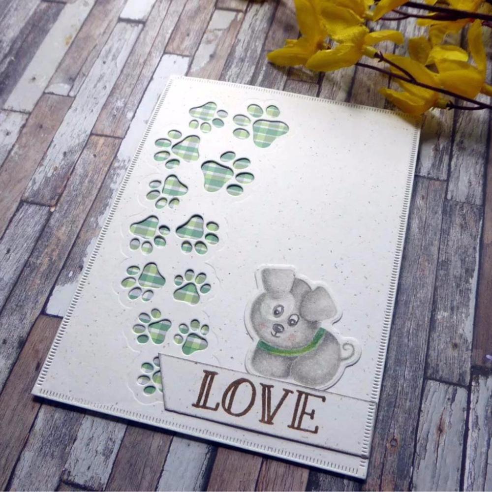 Puppy Dog Paw Cutting Dies DIY Scrapbooking Embossing Paper Card Album Craft
