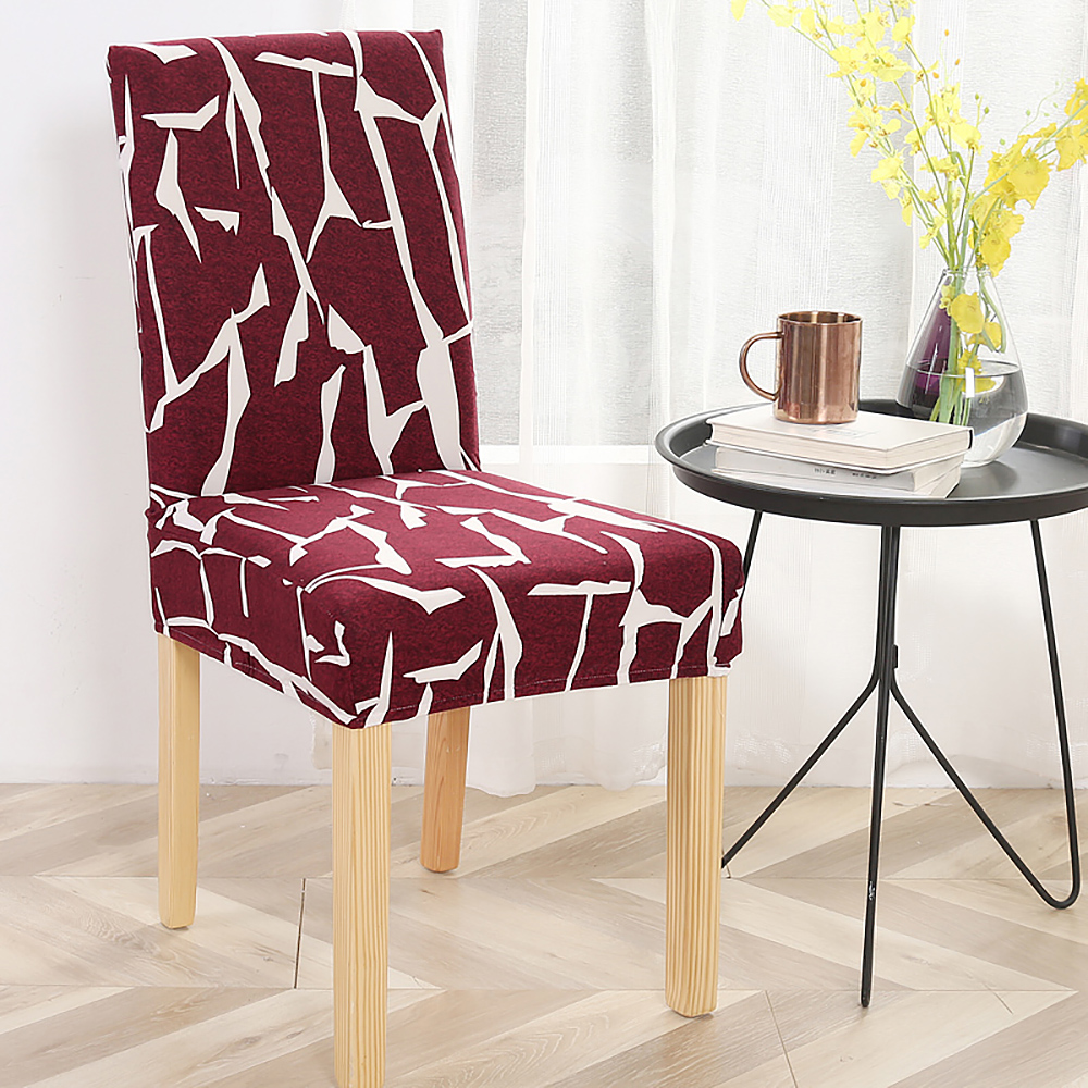 1//2//4//6PCS Dining Chair Covers Art Slipcover Stretch Wedding Banquet Party Decor