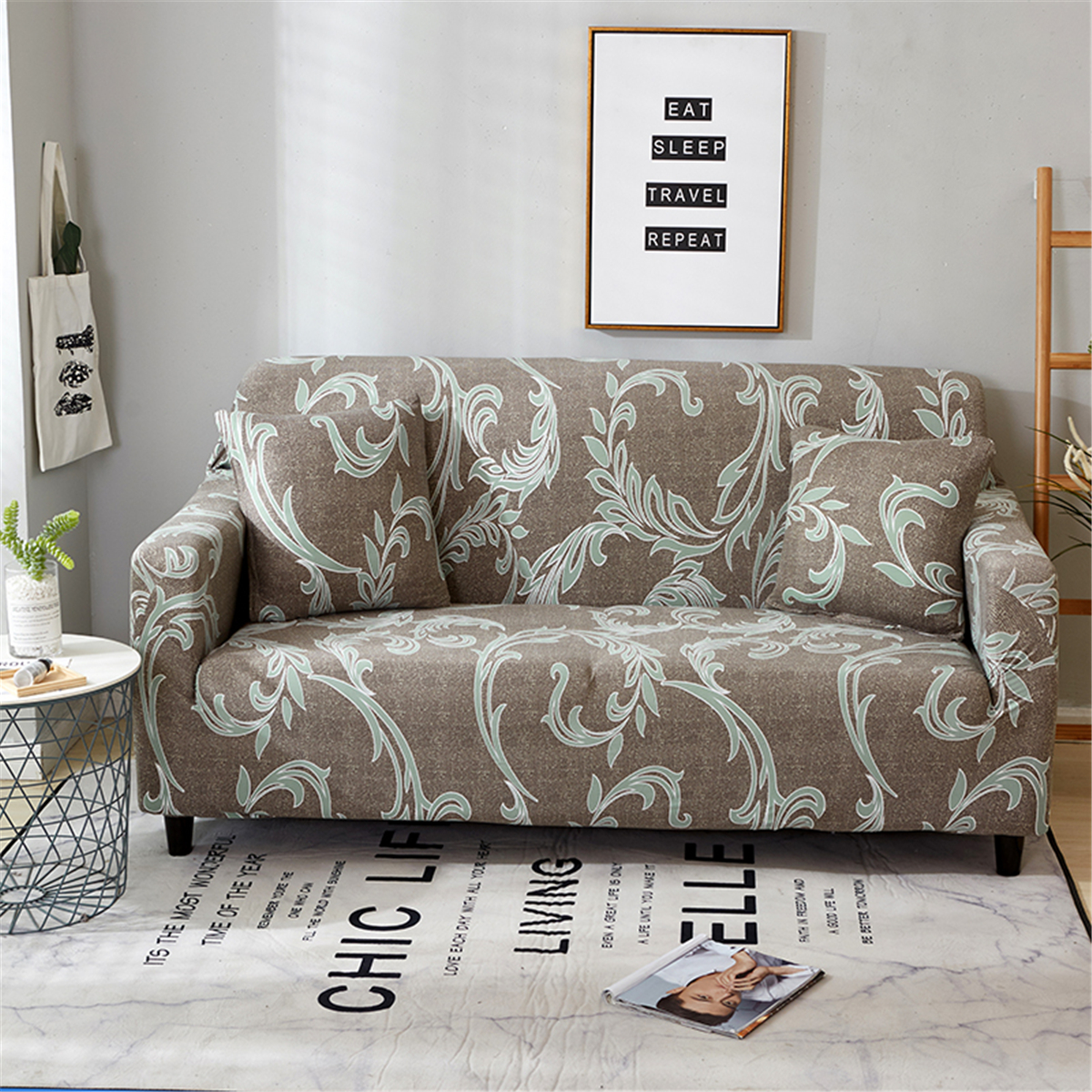 Retro 1//2//3//4 Seater Slipcover Stretch Sofa Covers Couch Elastic Soft Protector