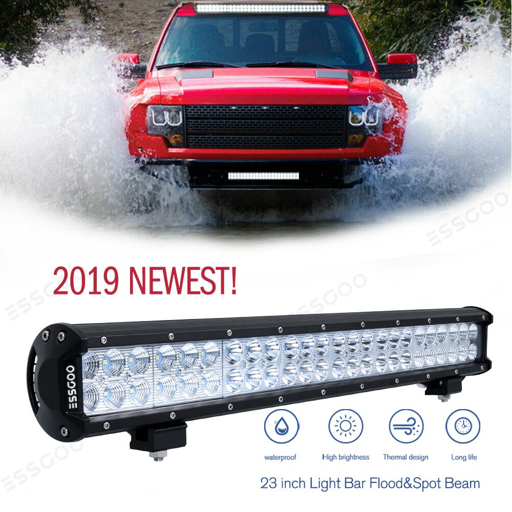 Multi-Lengths LED Work Light Bar Combo Beam/&Universal Front License Mount Bracke