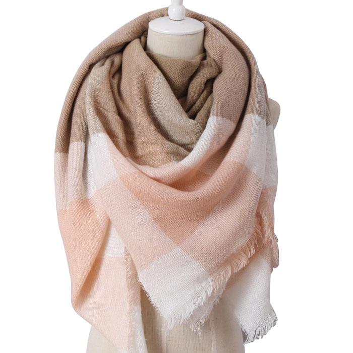 Women Winter Warm Tartan Scarf Blanket Wrap Shawl Cozy Checked Plaid Pashmina