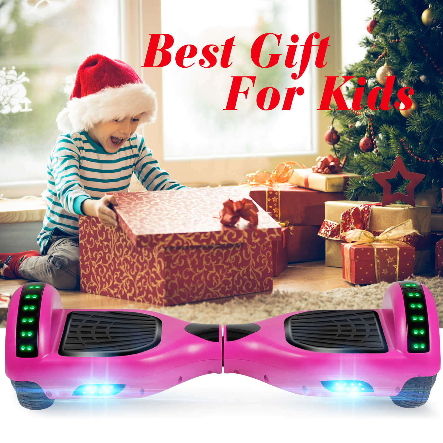 Bluetooth Hoverboad Electric Balancing Scooter W// LED Lights Girls Gift no bag