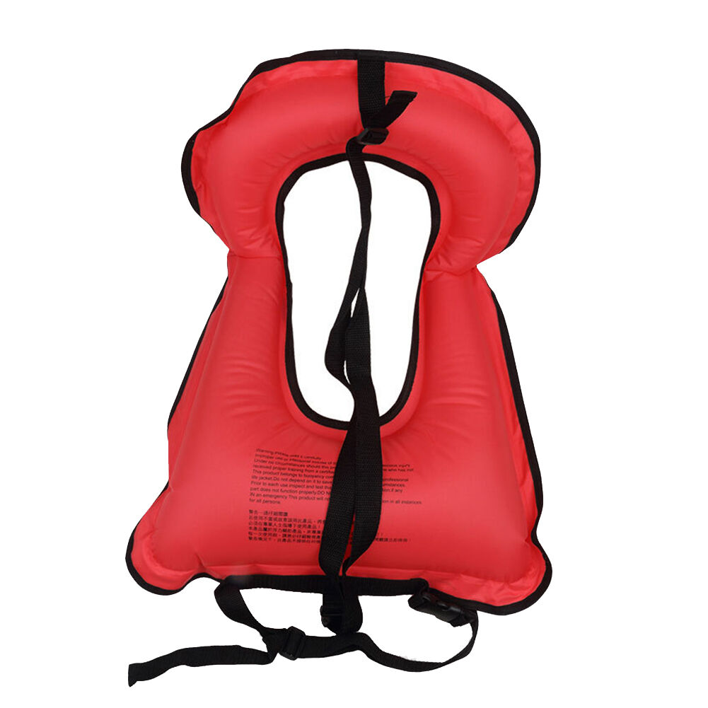 Kids// Adults Inflatable Life Jacket Vest for Snorkeling Surfing Boating Swimming