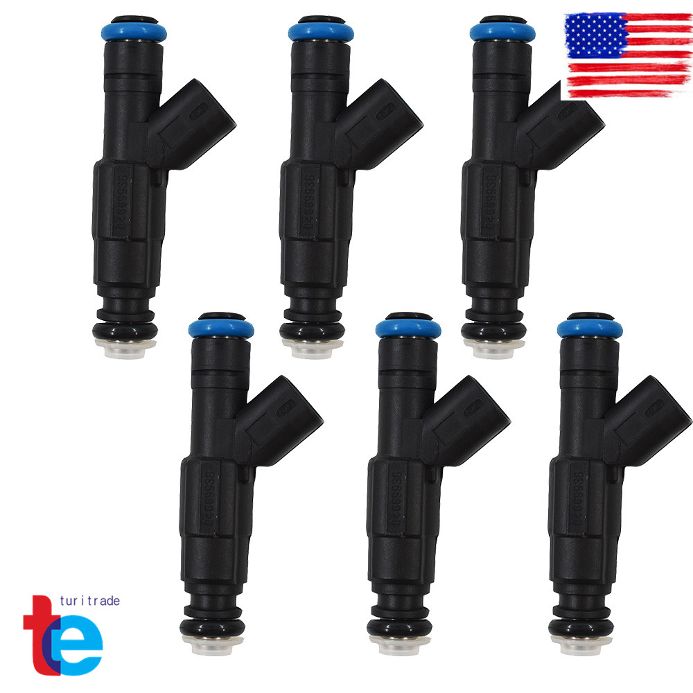 Set of 6 4-Hole Upgrade Fuel Injectors for 99-04 4.0L Jeep Cherokee 0280155784