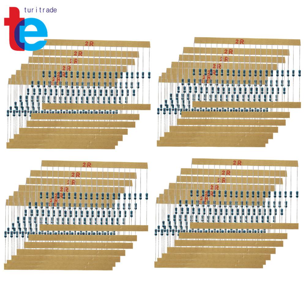 New 2600 pcs 130 Values 1//4W 0.25W 1ohm 3M Resistor Resistors Kit Assortment Set