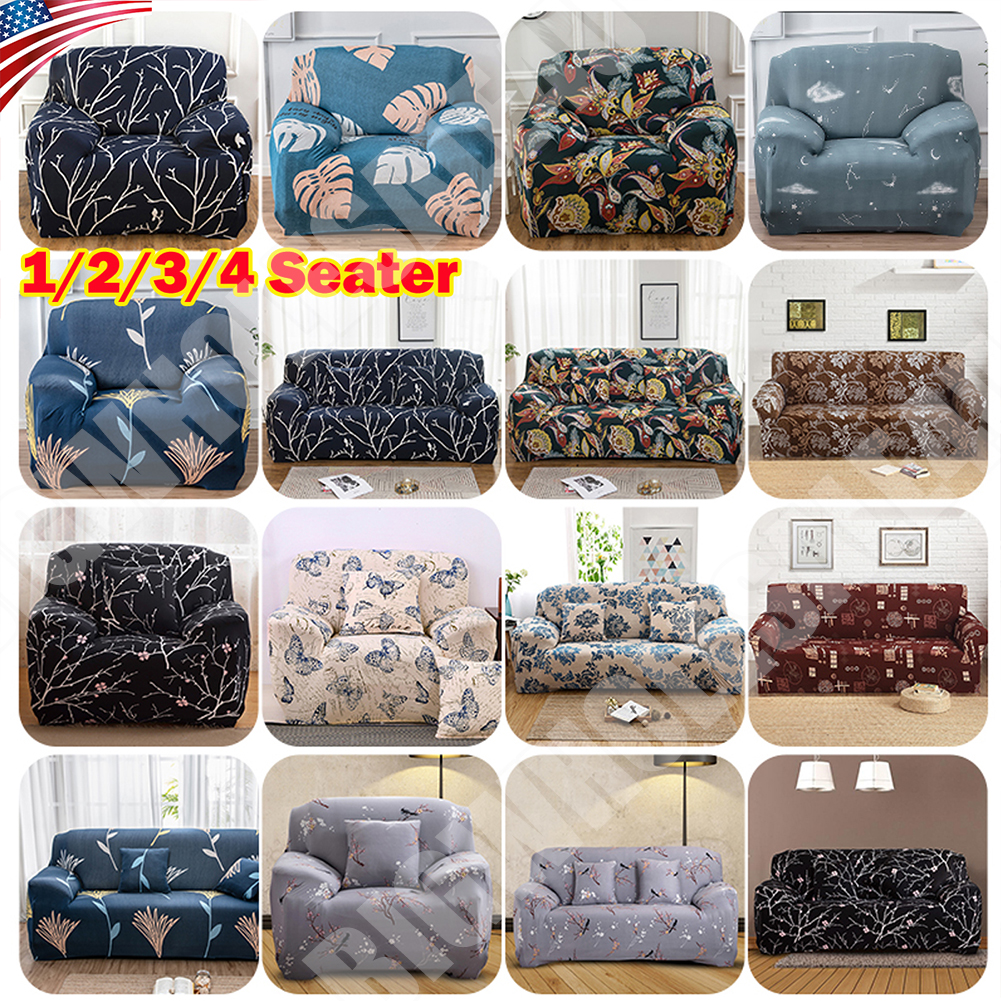 US 1 2 3 Seat Stretch Spandex Chair Sofa Couch Cover Elastic