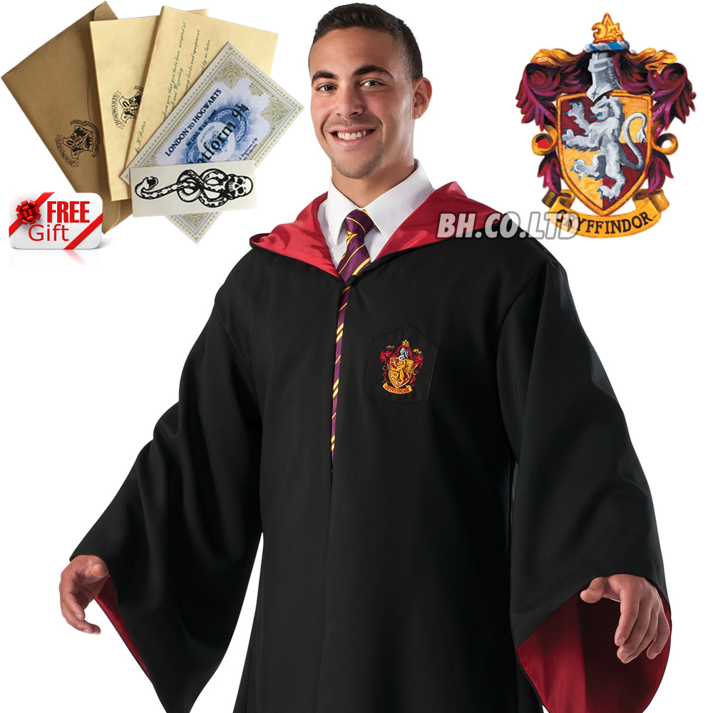 Harry-Potter-Hogwarts-Adult-Child-Robe-Cloak-Scarf-Halloween-COS-Costumes thumbnail 11