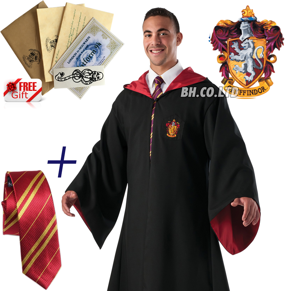 Harry-Potter-Hogwarts-Adult-Child-Robe-Cloak-Scarf-Halloween-COS-Costumes thumbnail 22
