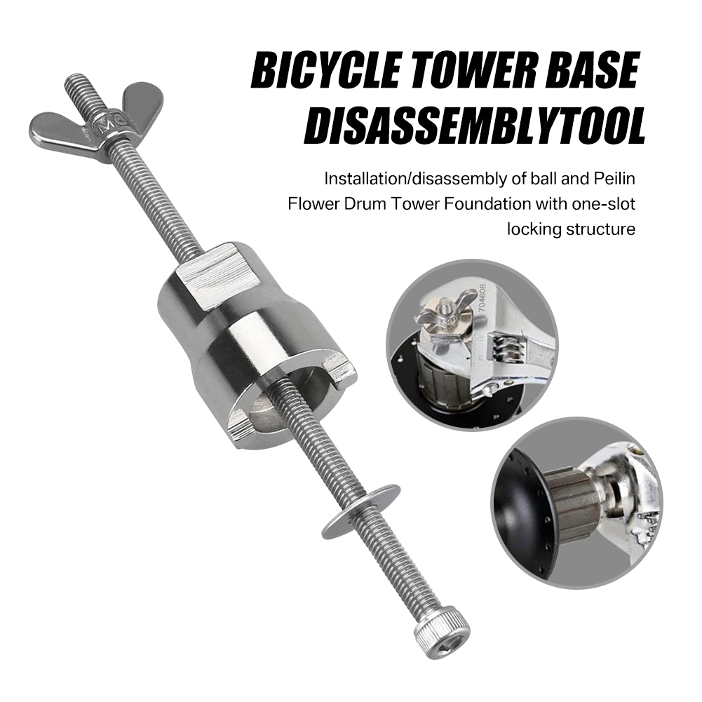 Stainless Steel Bicycle Hub Disassembly Tool Sleeve Mountain Bike Remover Repair