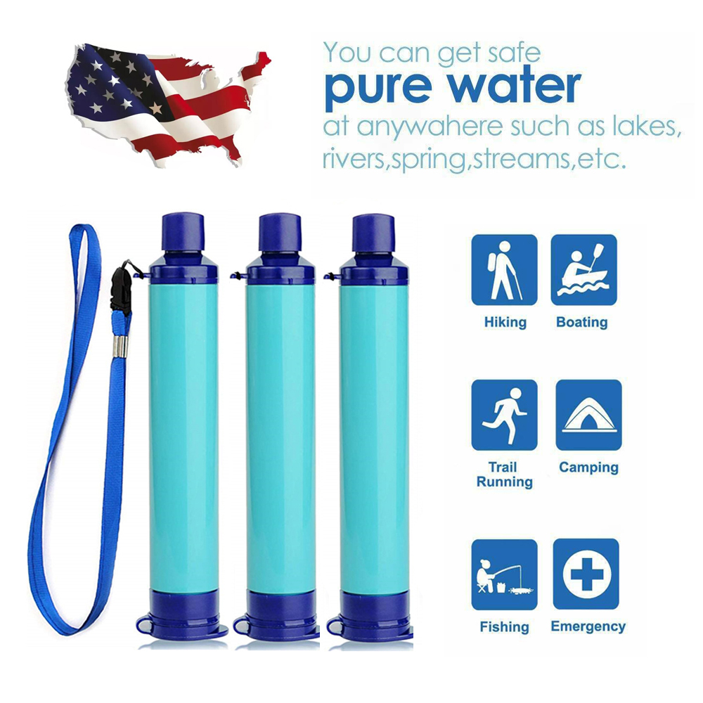 Portable Purifier Water Filter Straw Tool Accessory for Camping Hiking Emergency Survival Water Filter Straw