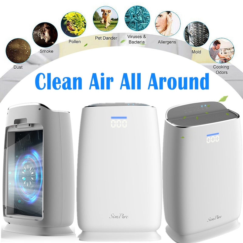 Large Room Air Purifiers HEPA Home Office for Allergies Pets