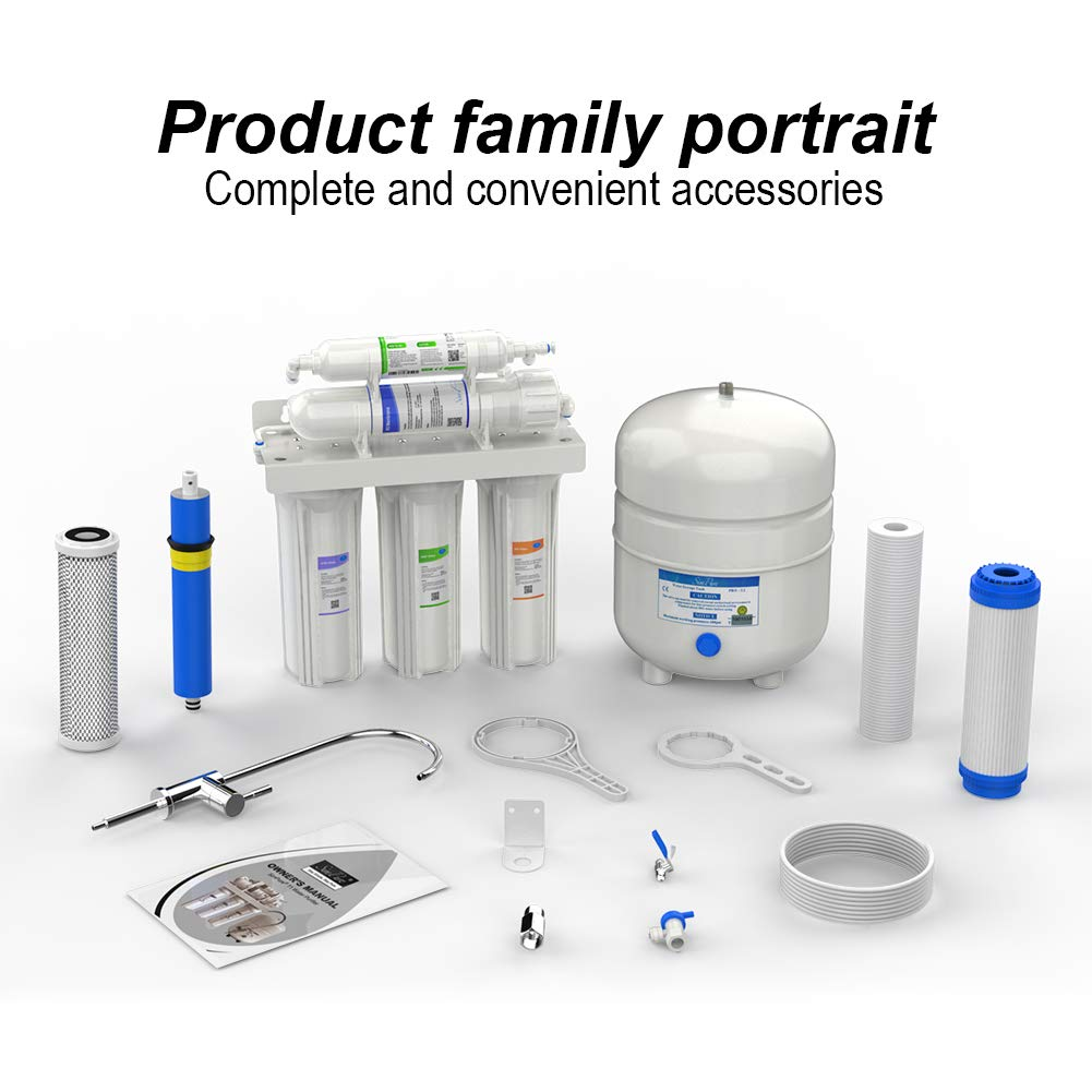 thumbnail 15 - 5 Stage Reverse Osmosis Home Drinking Water Filter System Purifier Extra Filters