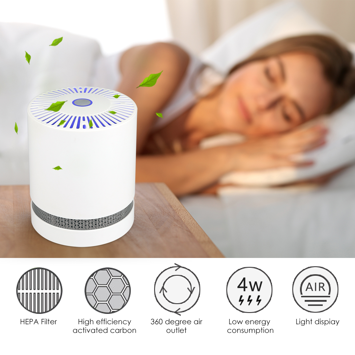 Large-Room-Air-Purifier-with-True-HEPA-Filter-Remove-Allergies-Odors-Noise-free miniature 18