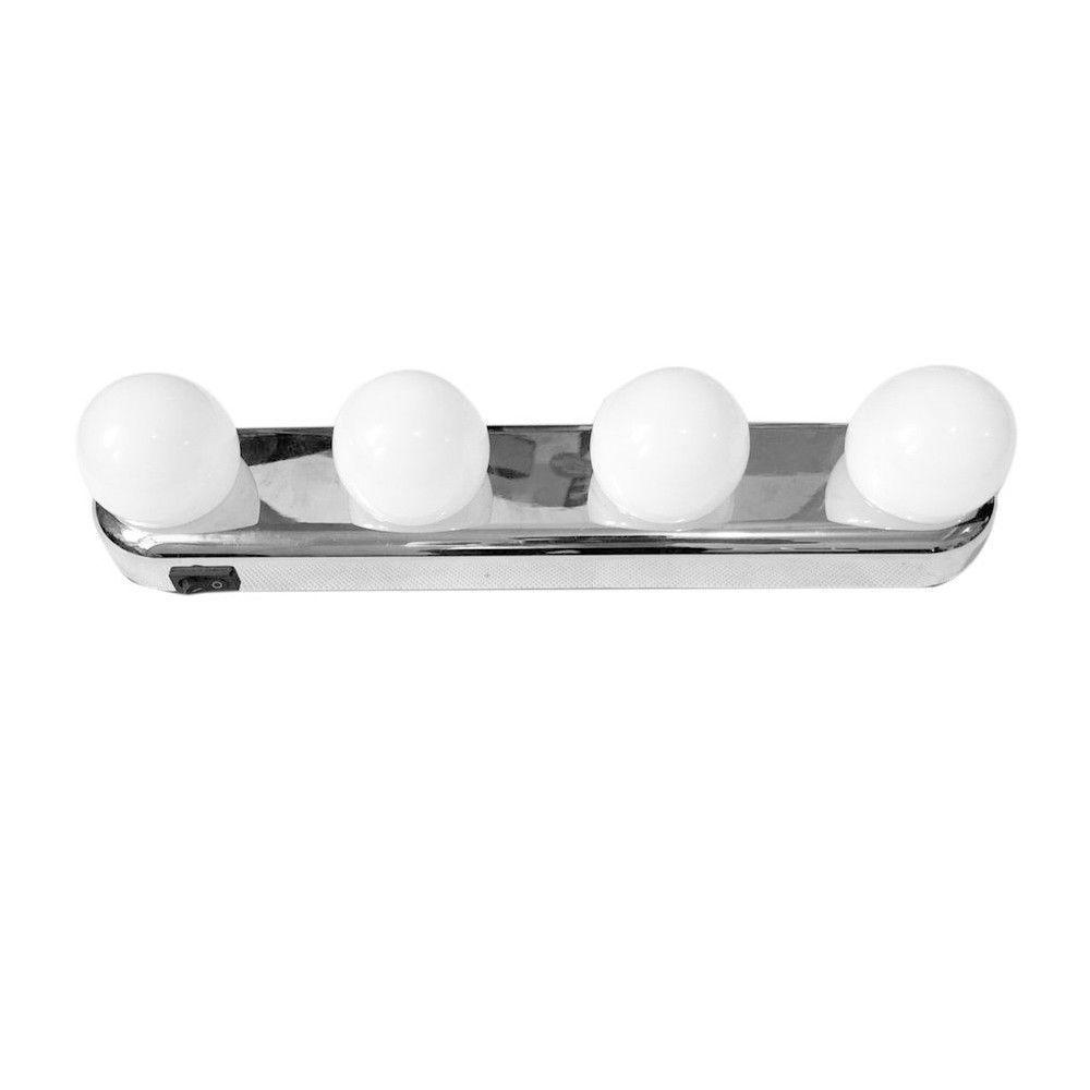 Vanity Mirror Portable Light Bulbs 4 Led Studio Glow Make