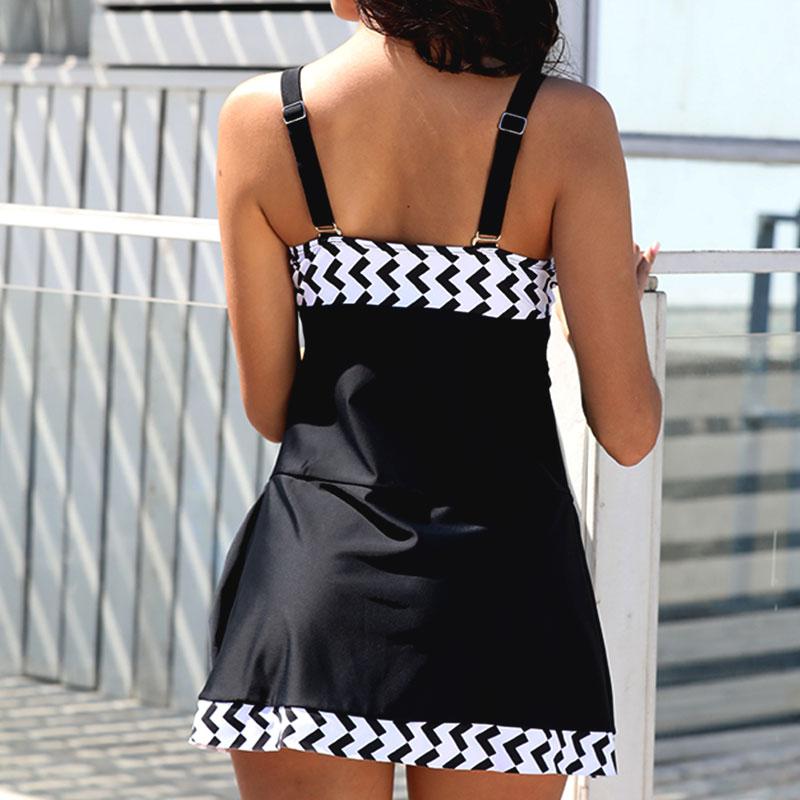 Plus-Size-Women-Tankini-Swimdress-Shorts-Briefs-Swimwear-Beachwear-Swimsuit thumbnail 31