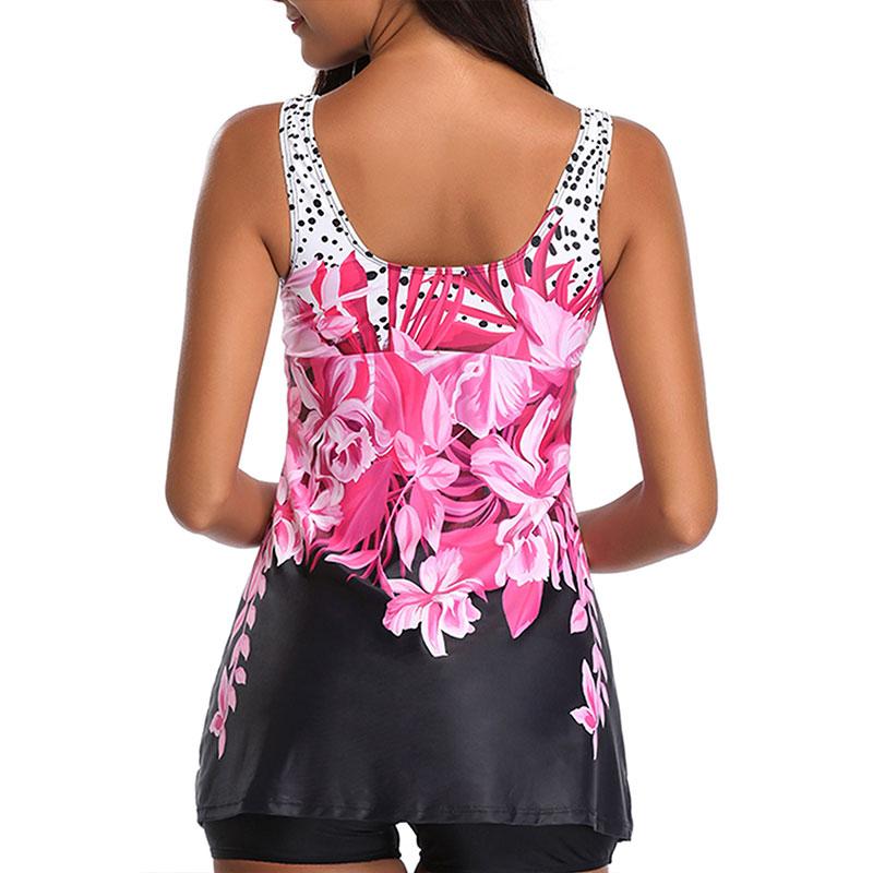 Plus-Size-Women-Tankini-Swimdress-Shorts-Briefs-Swimwear-Beachwear-Swimsuit thumbnail 16