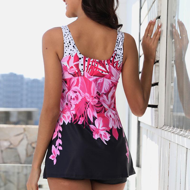 Plus-Size-Women-Tankini-Swimdress-Shorts-Briefs-Swimwear-Beachwear-Swimsuit thumbnail 18