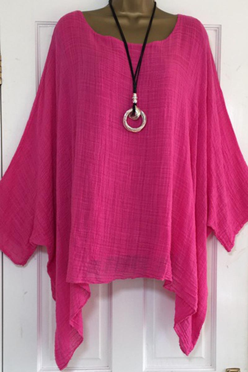 US-Plus-Size-Boho-Women-3-4-Sleeve-Kaftan-Baggy-Blouse-Top-Loose-Tee-Shirt-Tops thumbnail 17