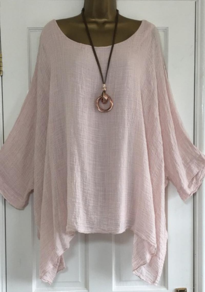 US-Plus-Size-Boho-Women-3-4-Sleeve-Kaftan-Baggy-Blouse-Top-Loose-Tee-Shirt-Tops thumbnail 55