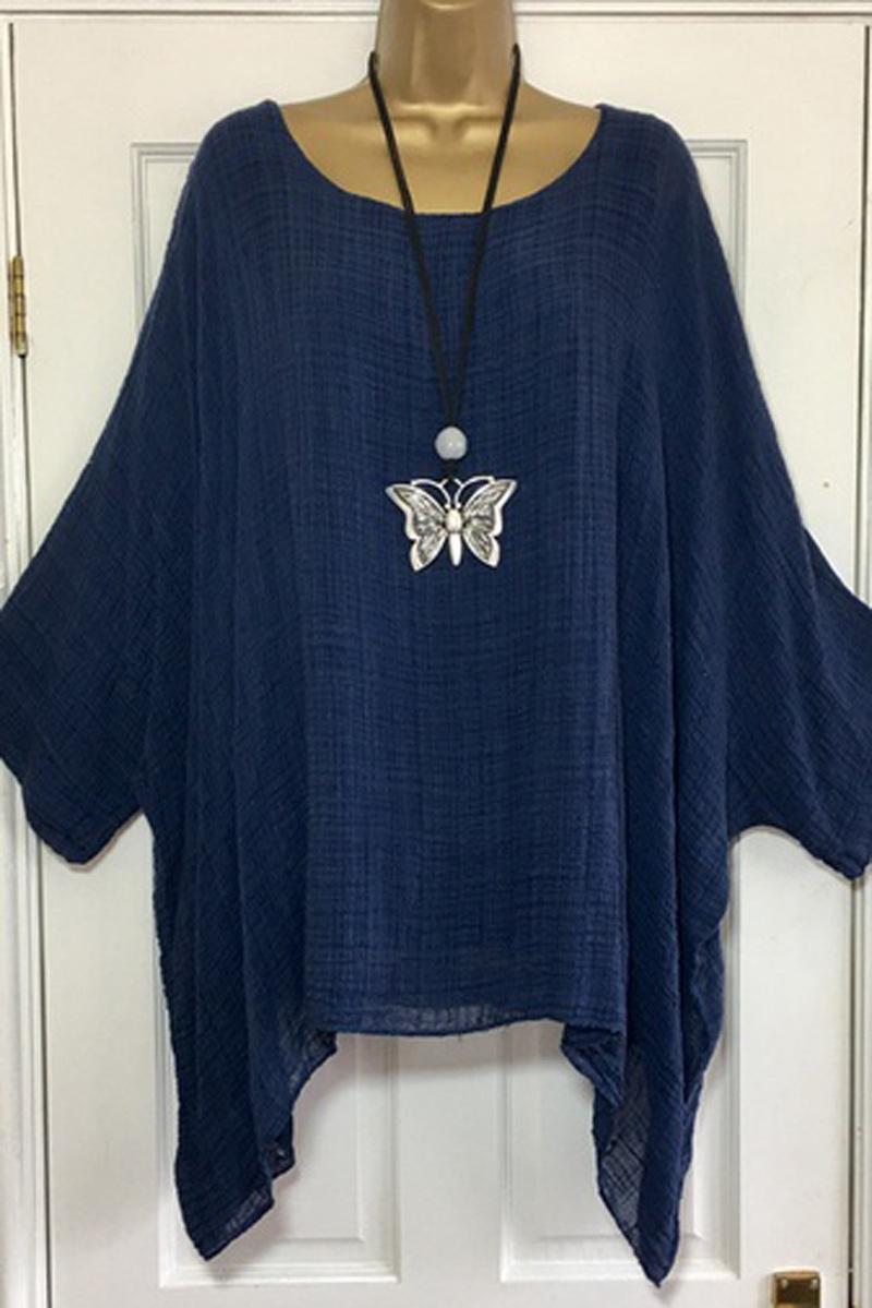 US-Plus-Size-Boho-Women-3-4-Sleeve-Kaftan-Baggy-Blouse-Top-Loose-Tee-Shirt-Tops thumbnail 56