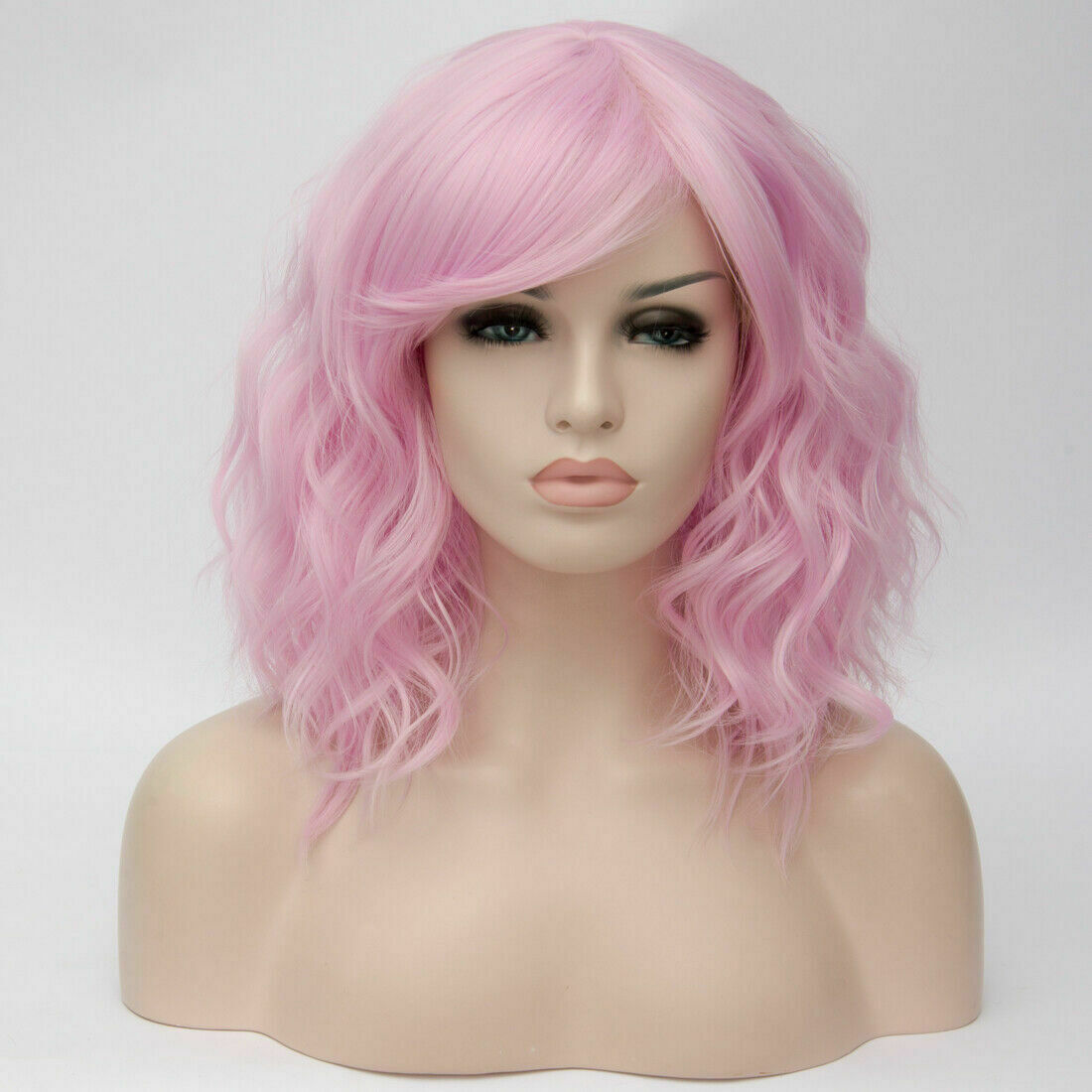 Lolita-Women-039-s-Short-Curly-Anime-Synthetic-Hair-Heat-Resistant-Cosplay-Party-Wig miniature 42