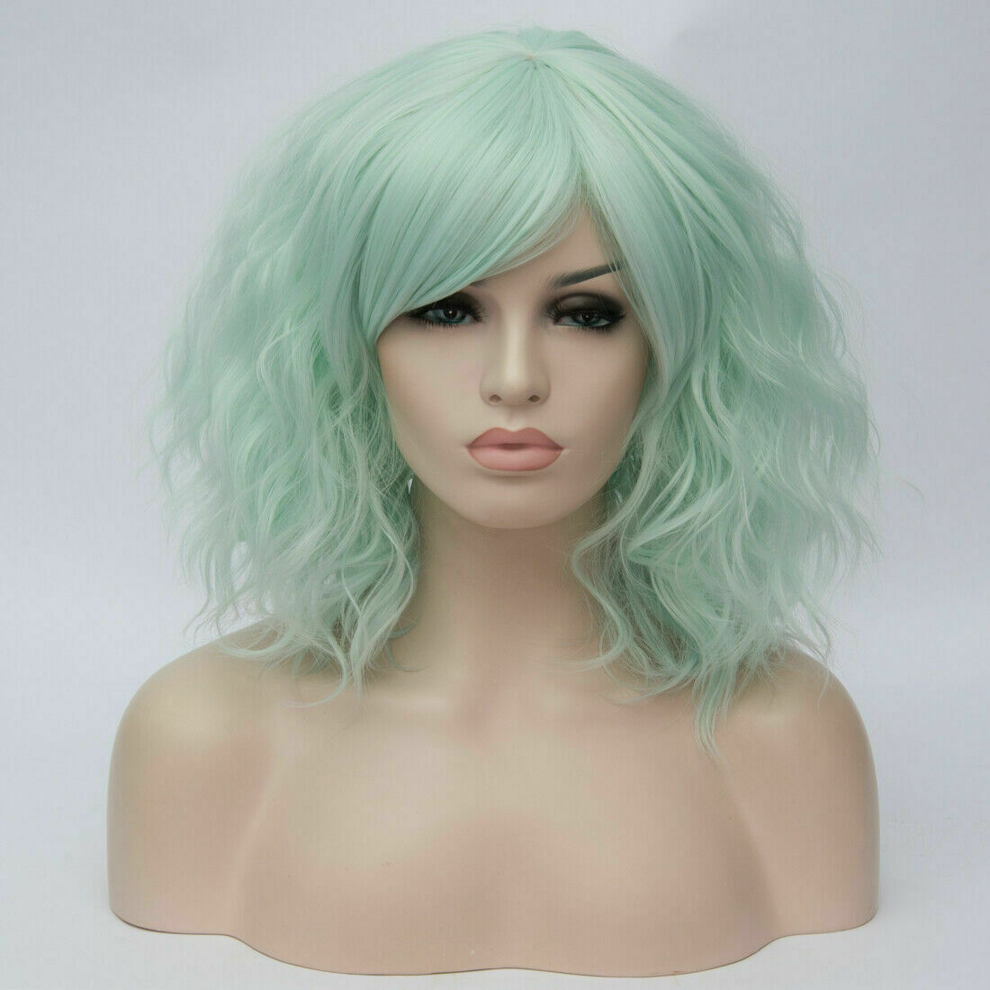 Lolita-Women-039-s-Short-Curly-Anime-Synthetic-Hair-Heat-Resistant-Cosplay-Party-Wig miniature 50