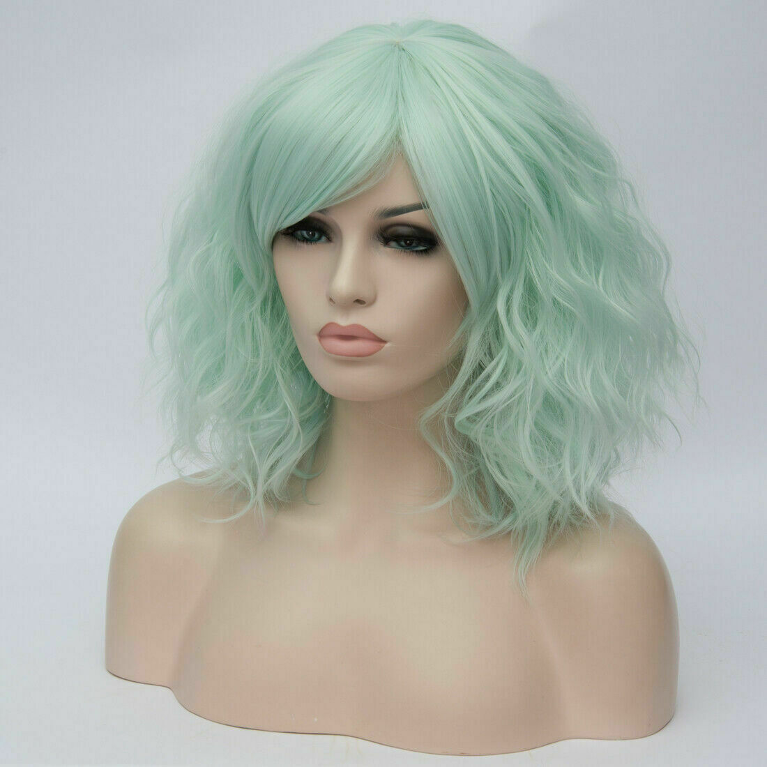 Lolita-Women-039-s-Short-Curly-Anime-Synthetic-Hair-Heat-Resistant-Cosplay-Party-Wig miniature 52
