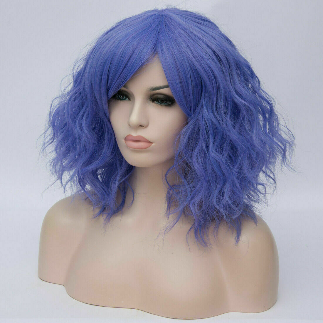Lolita-Women-039-s-Short-Curly-Anime-Synthetic-Hair-Heat-Resistant-Cosplay-Party-Wig miniature 76