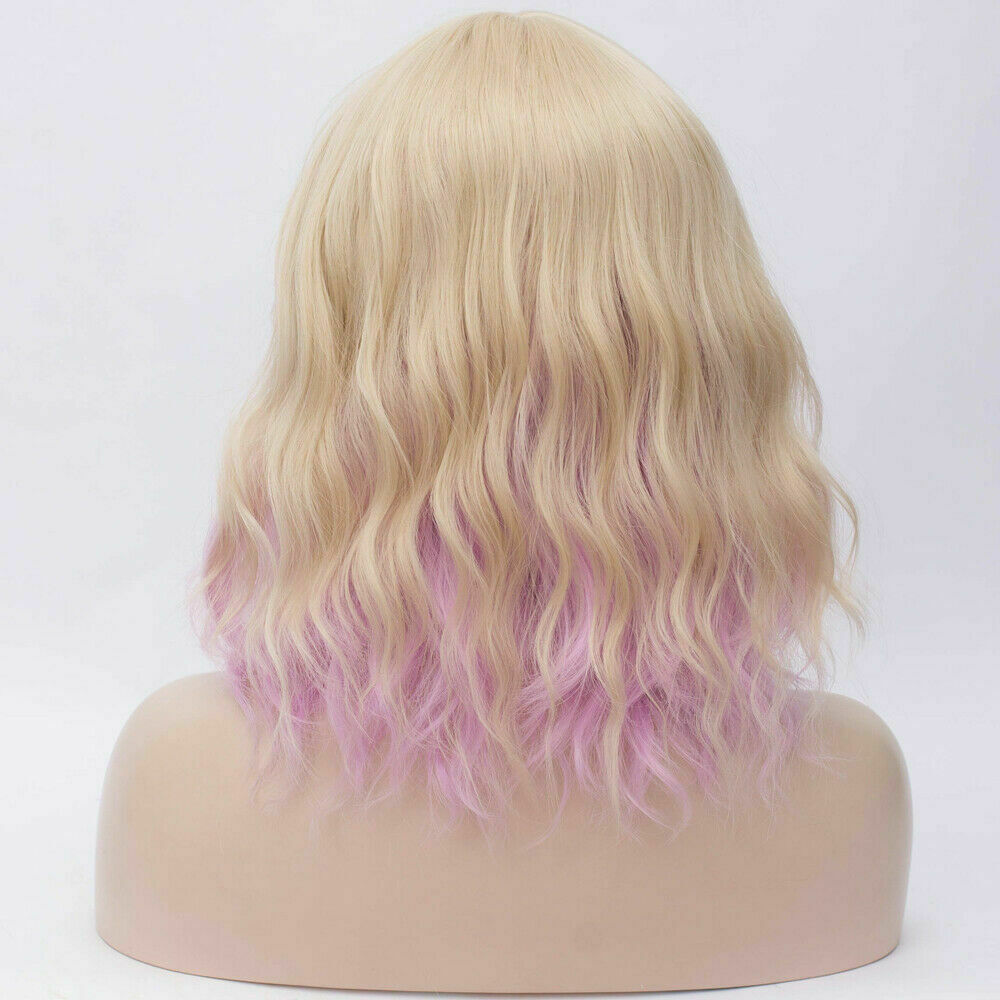 Lolita-Women-039-s-Short-Curly-Anime-Synthetic-Hair-Heat-Resistant-Cosplay-Party-Wig miniature 82