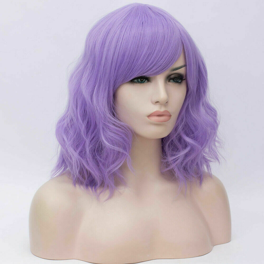 Lolita-Women-039-s-Short-Curly-Anime-Synthetic-Hair-Heat-Resistant-Cosplay-Party-Wig miniature 86