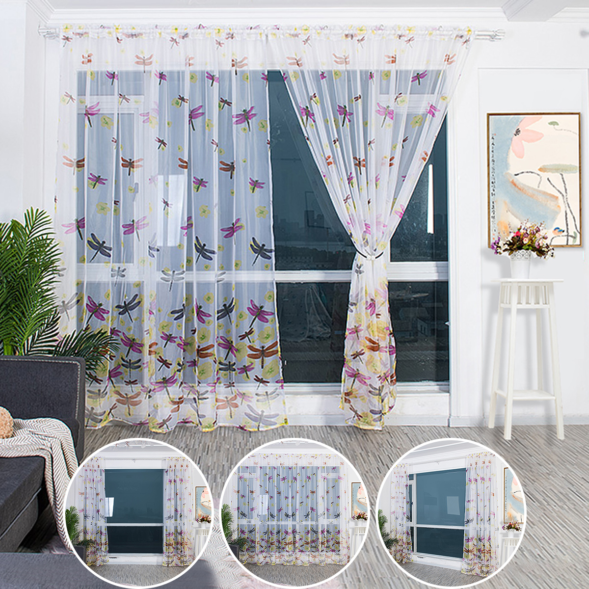 39 Sheer Tulle Voile Window Curtain