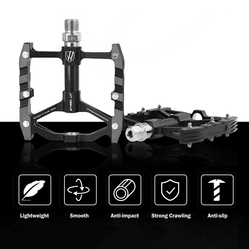 PROMEND-Mountain-Road-Bike-Pedals-3-Bearings-Carbon-Fiber-Core-Tube-Pedals-Flat thumbnail 17