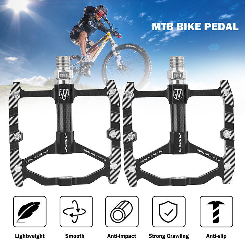 PROMEND-Mountain-Road-Bike-Pedals-3-Bearings-Carbon-Fiber-Core-Tube-Pedals-Flat thumbnail 20