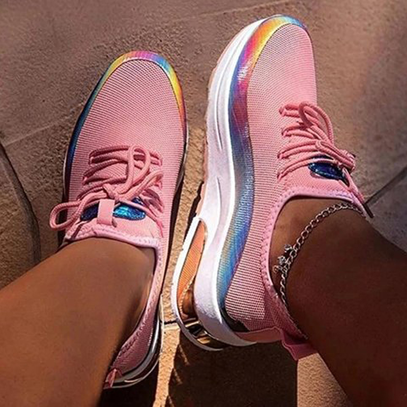 Women-Lace-Up-Breathable-Trainers-Sports-Running-Gym-Sneakers-Walking-Shoes thumbnail 14