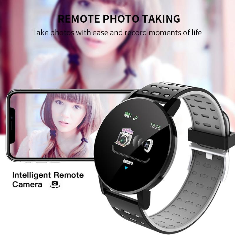 119-plus-smart-watch-IP67-impermeable-a-l-039-Eau-Bracelet-Moniteur-De-Frequence-Cardiaque-Fitness miniature 22