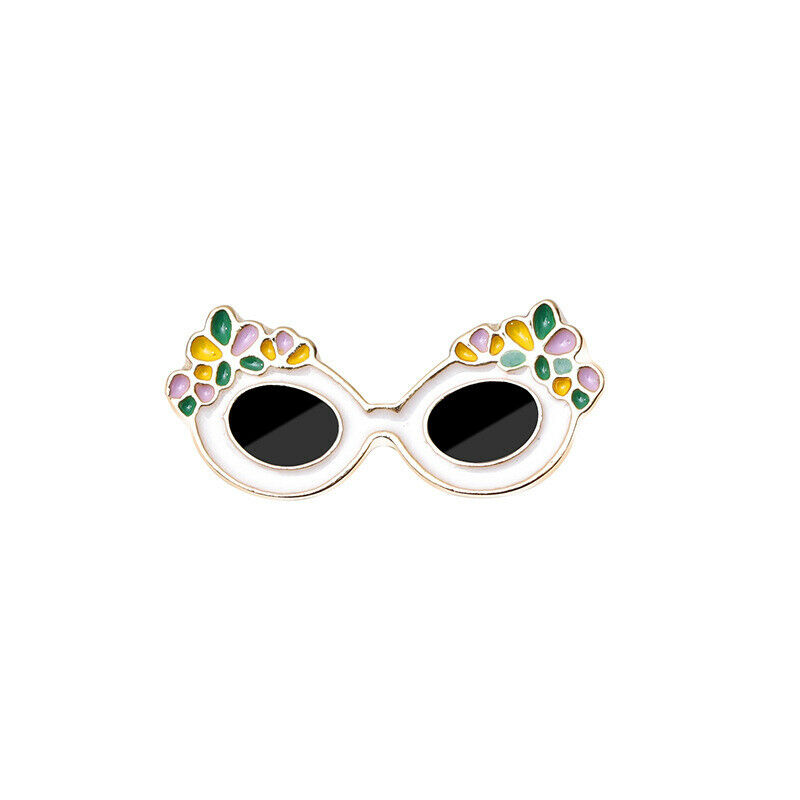 Sunglasses Lapel Pin: Cartoon Sunglasses Brooches Pins Lapel Pin Badge Buckle