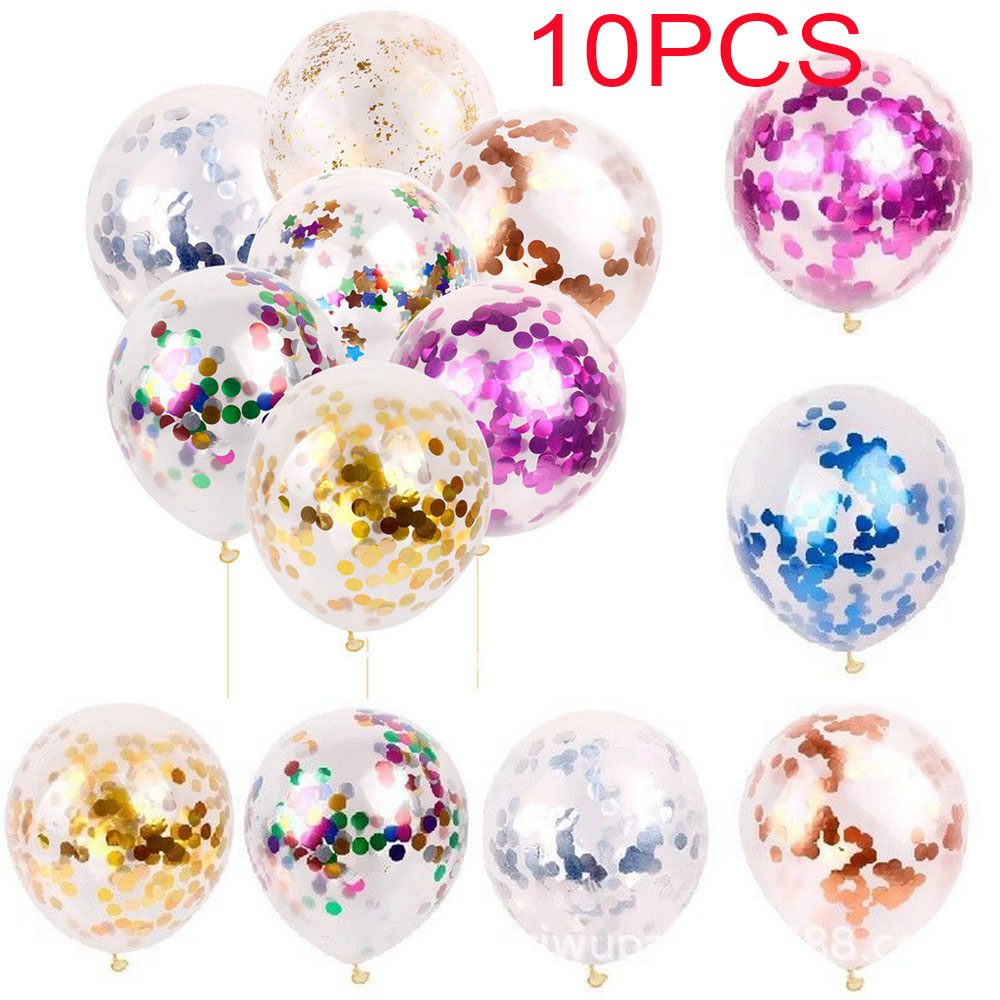 12-36inch Gold Foil Confetti Latex Balloons Helium Wedding Party Decoration New
