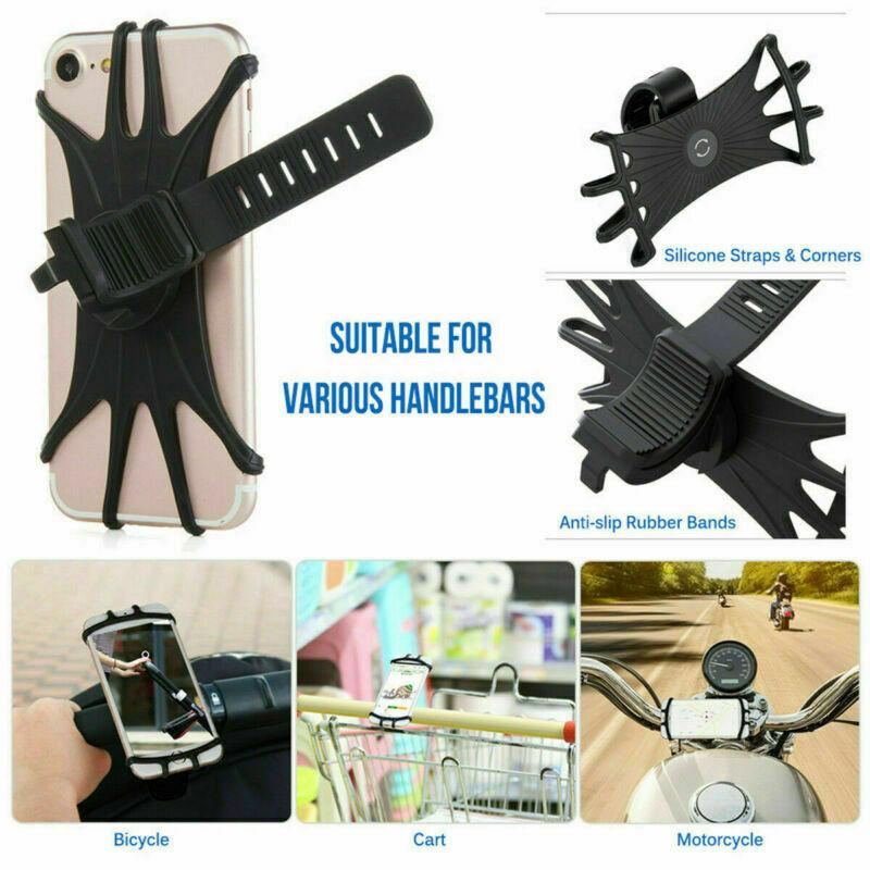 360-Universal-Motorcycle-Bike-Bicycle-Handlebar-Mount-Holder-For-mobile-Phone thumbnail 2