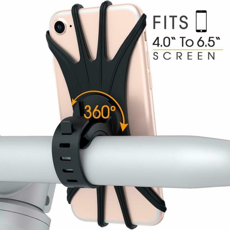 360-Universal-Motorcycle-Bike-Bicycle-Handlebar-Mount-Holder-For-mobile-Phone thumbnail 3