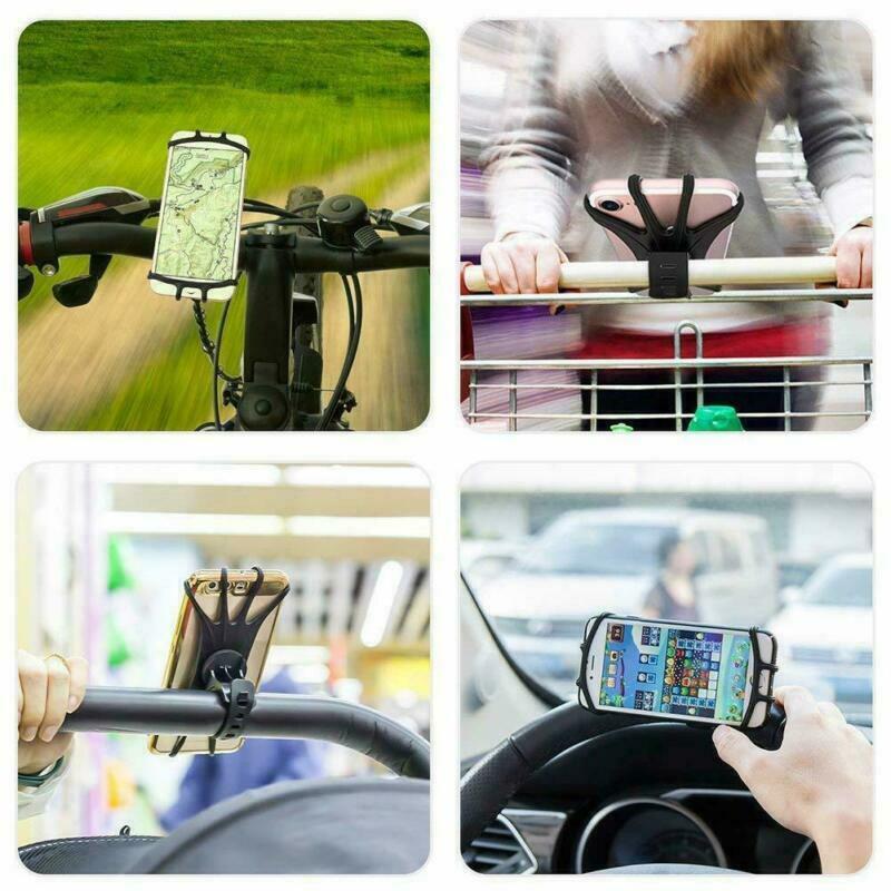 360-Universal-Motorcycle-Bike-Bicycle-Handlebar-Mount-Holder-For-mobile-Phone thumbnail 6