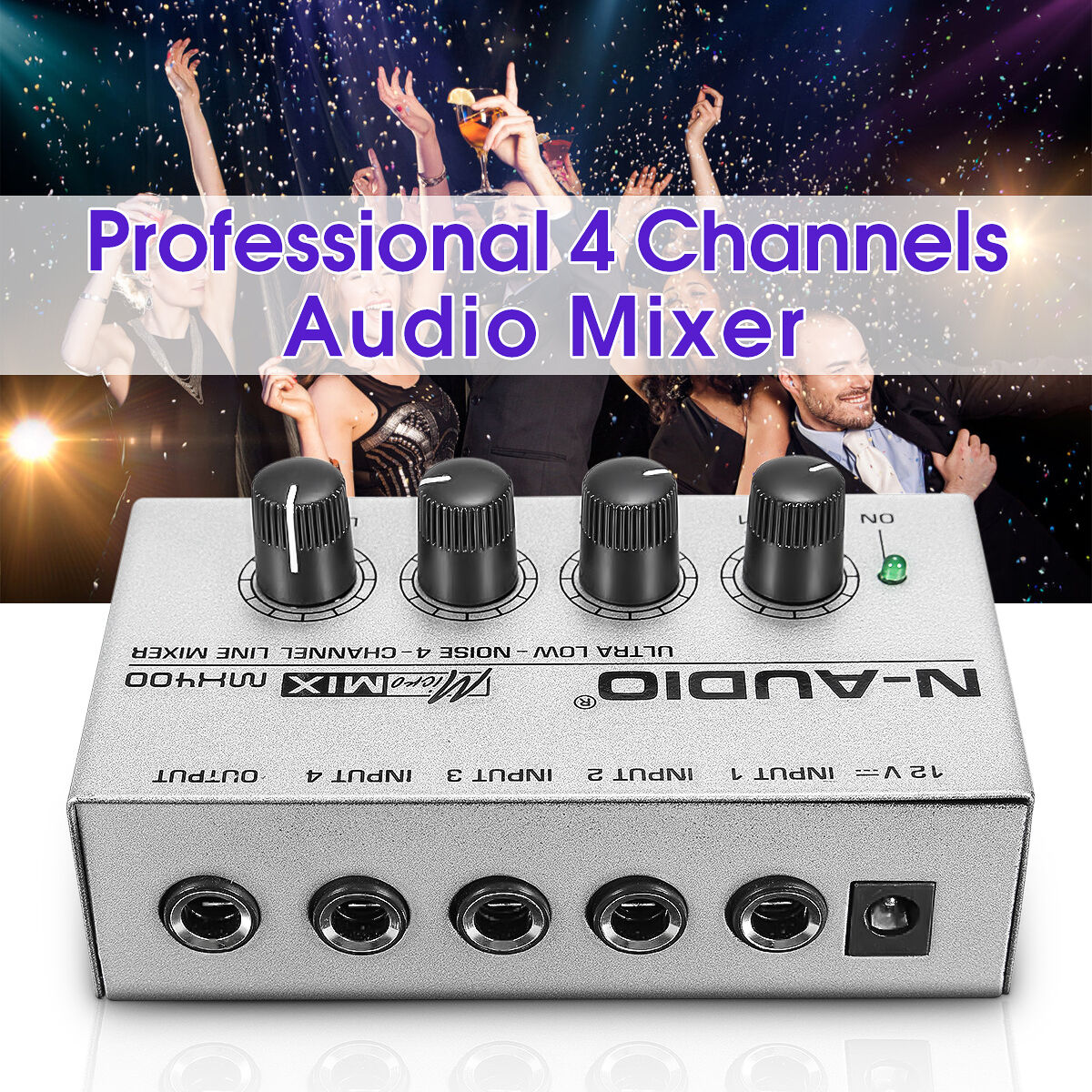 MX400 Ultra-compact Low Noise 4 Channels Line Mono Audio Mix