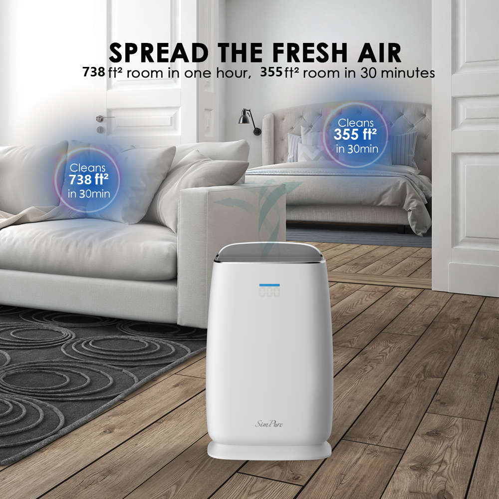 Air Purifier for Allergies and Pets HEPA Filter Air Fresher